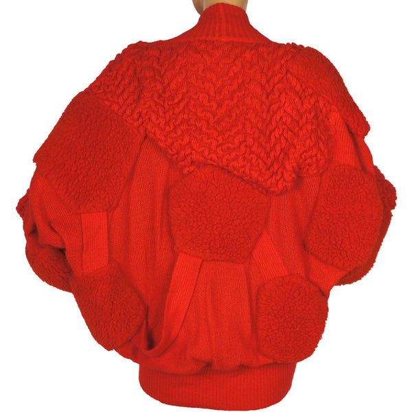 Vintage 1980s Escada Sweater Red Mohair Wool Blend Ladies Size 42 Large - Poppy's Vintage Clothing