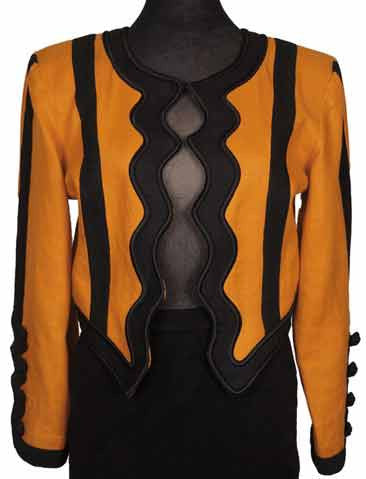 1980s vintage jacket - Yves Saint Laurent - orange black - front