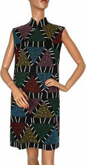 1980s vintage dress Karl Lagerfeld Beaded Geometric Pattern