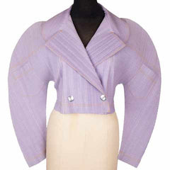 1980s Vintage Lavender Pleated Jacket by Issey Miyake - Poppy's Vintage Clothing