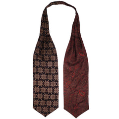 Vintage Mens Ascot Cravat 4 Way Tie Four Different Patterns on One Piece - Poppy's Vintage Clothing