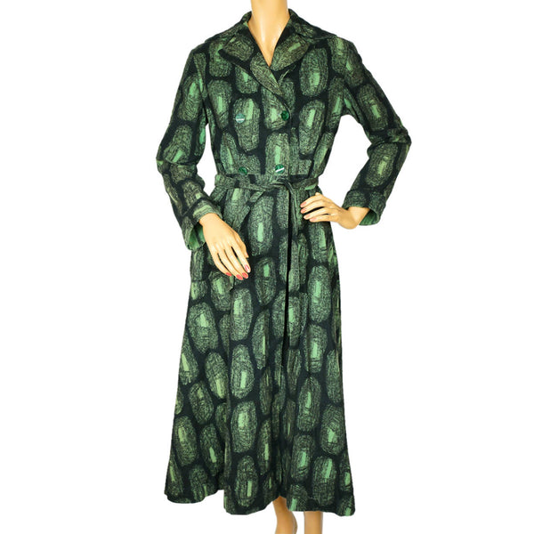 1950s-Abstract-Print-Cotton-Flannel-Dressing-Gown