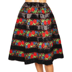 1950s Black Raffia Straw Skirt