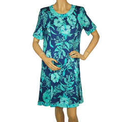 Vintage-Averardo-Bessi-Floral-Print-Cotton-Dress