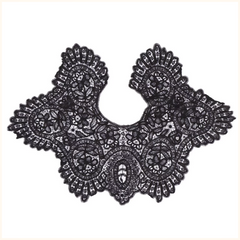 Victorian Black Lace Collar