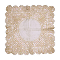 Antique Maltese Silk Lace Wedding Handkerchief Fine & Gorgeous Hankie - Poppy's Vintage Clothing
