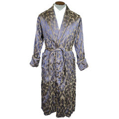 Vintage Mens Dressing Gown Lounging Robe 1910s 1920s Size M - Poppy's Vintage Clothing