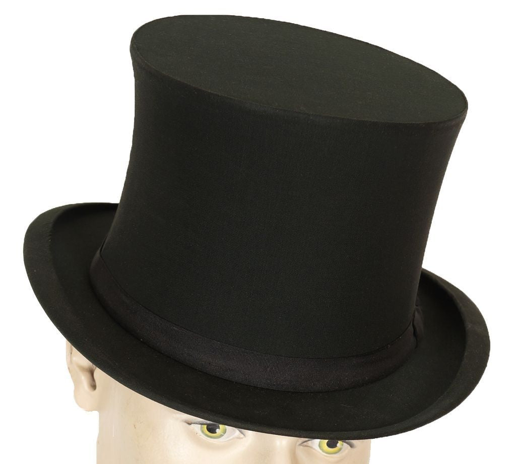 213fbb2c894 Top Hat Gibus Hat Silk Collapsible Opera Hat Chapeau Claque M 7 1 8