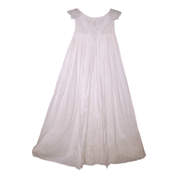 Antique-Ayrshire-Whitework-Christening-Gown