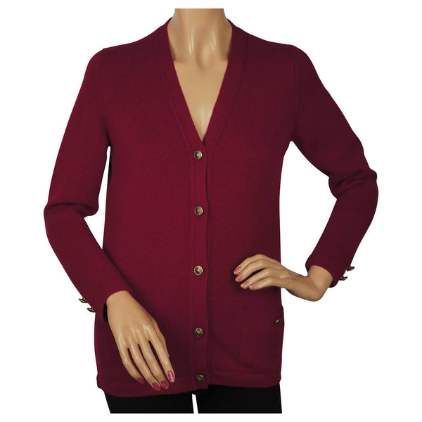 Ballantyne-Cashmere-Wine-Red-Ladies-Cardigan-Sweater
