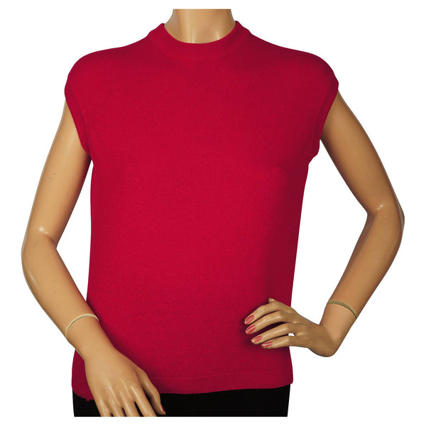 Ballantyne-Cherry-Red-Cashmere-Shell-Sweater