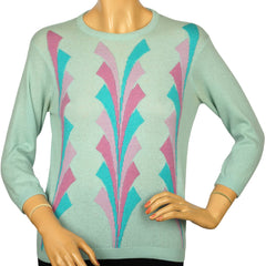 Ballantyne-Cashmere-Sweater-Patterned-Mint-Green