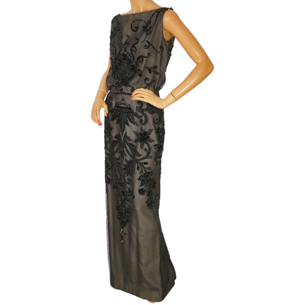 Vintage Molyneux Black Velvet Evening Gown 1930s Designer Dress