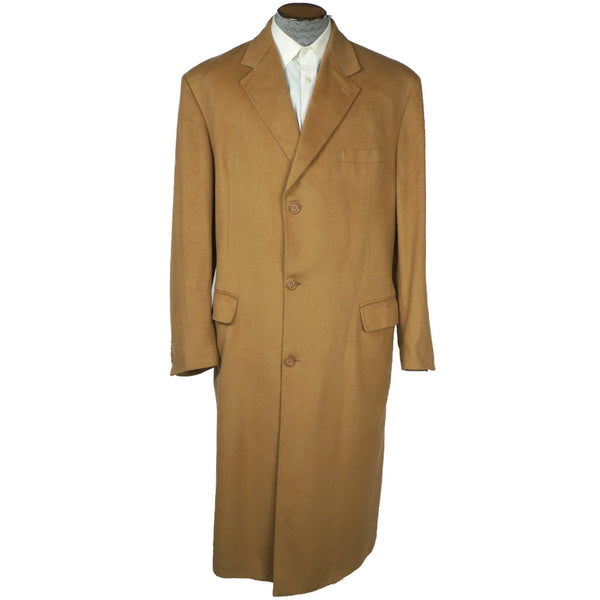 Vintage Mens Overcoat 100% Pure Italian Cashmere Coat Barneys NY Size 44 Long - Poppy's Vintage Clothing