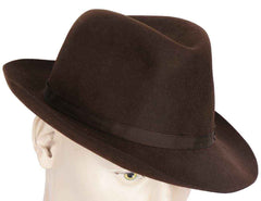 Vintage Battersby London Hand Made Brown Fur Felt Fedora Hat 7 3/8 - Poppy's Vintage Clothing