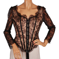 Bellville-Sassoon-Lorcan-Mullany-Black-Lace-Corset-Top