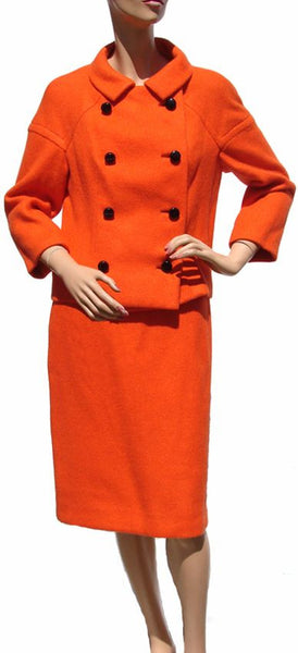 1960s Orange Wool Suit by Bianco - Italian Couture