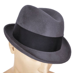 Canadian-Luxuro-Grey-Plush-Fur-Felt-Fedora-