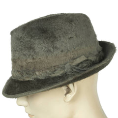 Vintage Biltmore Pure Beaver Grey Plush Fedora Hat Deluxe Fur Size 7 1/4 - Poppy's Vintage Clothing