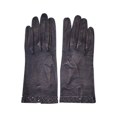 Vintage-Black-Kid-Leather-Gloves