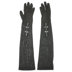 1940s-50s-Long-Black-Mesh-Gloves-