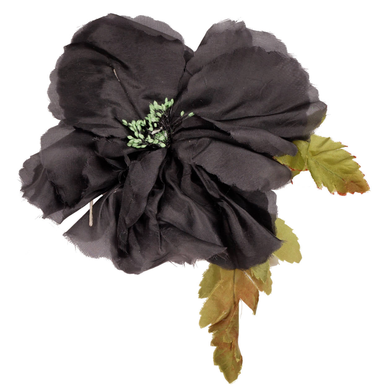 Vintage black silk millinery flower vintage black silk millinery flower mightylinksfo