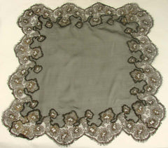 Black Silk Chiffon Handkerchief