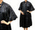 Vintage 1950s Black Silk Coat - Cape Sleeve - Poppy's Vintage Clothing