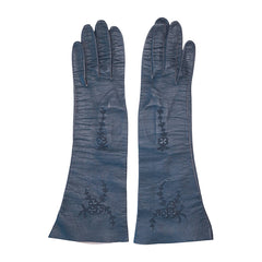 German-US-Zone-Blue-Kid-Leather-Gloves