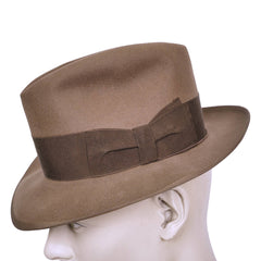 Vintage Borsalino Fedora 1950s Mens Brown Hat Qualita Superiore Size Small - Poppy's Vintage Clothing