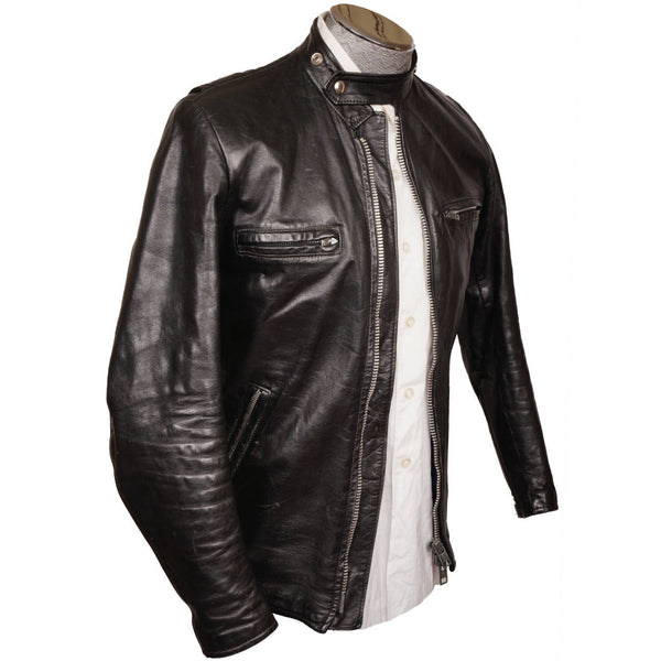 vintage brimaco cafe racer leather motorcycle jacket 1960s size small