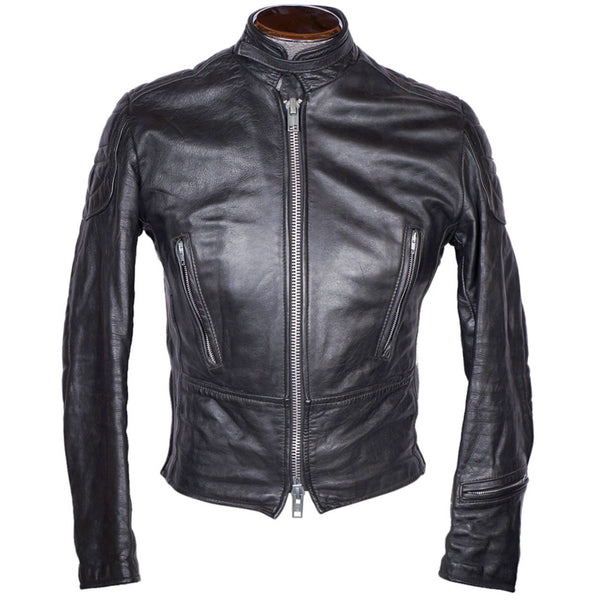 Vintage 70s Brimaco Cafe Racer Leather Motorcycle Jacket S - Poppy's Vintage Clothing