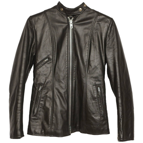 Vintage-Ladies-Brimaco-Cafe-Racer-Leather-Motorcycle-Jacket