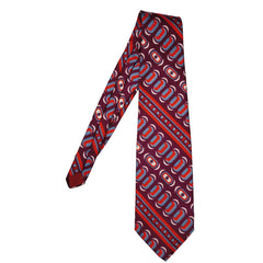 Vintage 1970s Brioni Rome Abstract Pattern Silk Necktie Mens Tie - Poppy's Vintage Clothing