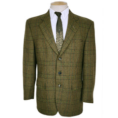 Vintage 1970s Tweed Sport Coat Mens Jacket - Bruce & Scott Tailors - Paris -Size M - Poppy's Vintage Clothing