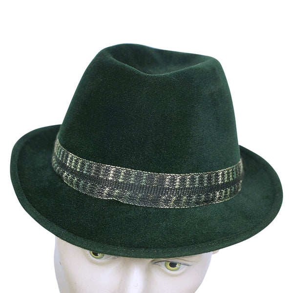 Vintage 1960s Mens Fedora Hat Custom Made Buckley Montreal Green Velour  Size M - Poppy s Vintage Clothing 936a891de2f