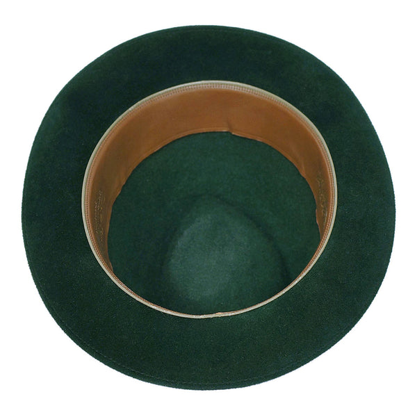 30e6666d Vintage 1960s Mens Fedora Hat Custom Made Buckley Montreal Green Velou