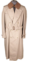 Vintage 1980s Mens Burberrys Trench Coat Beige with Wool Lining - Poppy's Vintage Clothing