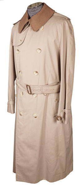 0e0850efc13ca Vintage 1980s Mens Burberrys Trench Coat Beige with Wool Lining