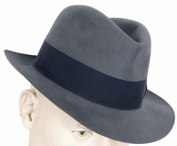 Vintage 1950s English Fedora Hat Henry Morgan Montreal Mens Medium - Poppy's Vintage Clothing