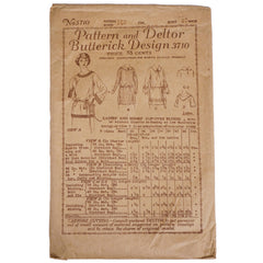 Vintage-1910s-Butterick-Sewing-Pattern-Blouse-3710