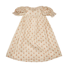Antique Baby Dress Calico Floral Chintz Printed Cotton Early Victorian for Doll - Poppy's Vintage Clothing
