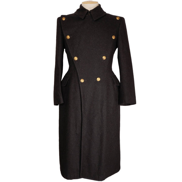 Vintage 1940s Royal Military College of Canada RMC Wool Great Coat - 1949 - Poppy's Vintage Clothing