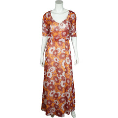 Vintage 70s Carven Paris Maxi Dress