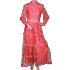 Vintage-Cassar-Haute-Couture-Pink-Jumper-Dress