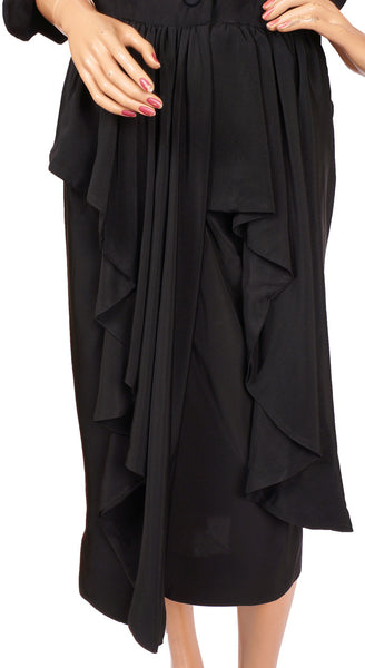 ... Vintage 50s Ceil Chapman Black Cocktail Dress Skirt ...