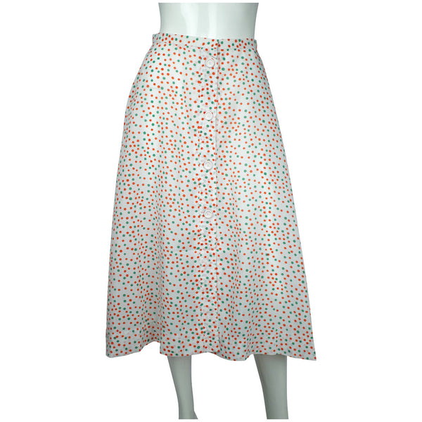 "Vintage Christian Dior Polka Dot Beachwear Skirt 1970s Unused Old Stock NOS 26""W - Poppy's Vintage Clothing"