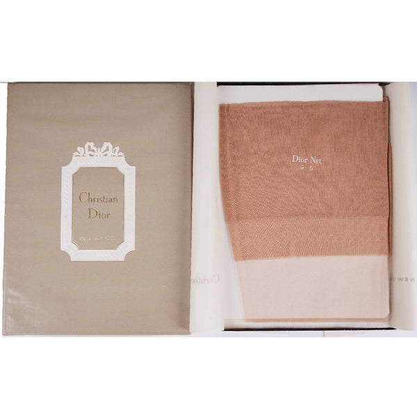 Christian Dior Diorette Stockings NIB Unused in Box Sparkling Champagne Size 9 S - Poppy's Vintage Clothing