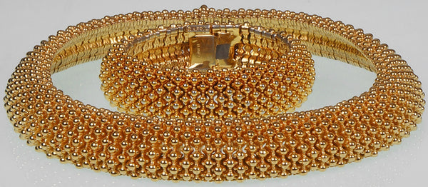 Vintage Ciner Gold Toned Demi Parure