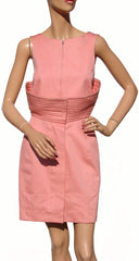 1980s Vintage Dress by Claude Montana in Pink Cotton - Poppy's Vintage Clothing